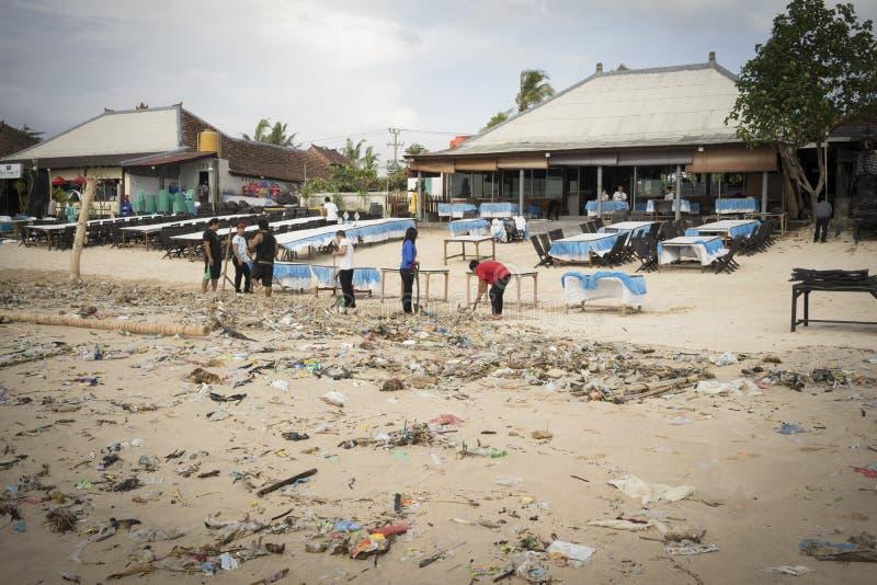 Bali - förorening arkivfoto