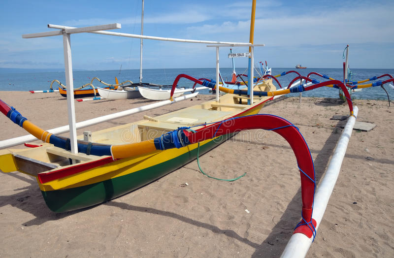 Download Bali Fishing Boat On Beach, Sanur, Indonesia. Stock Photo - Image: 23409460