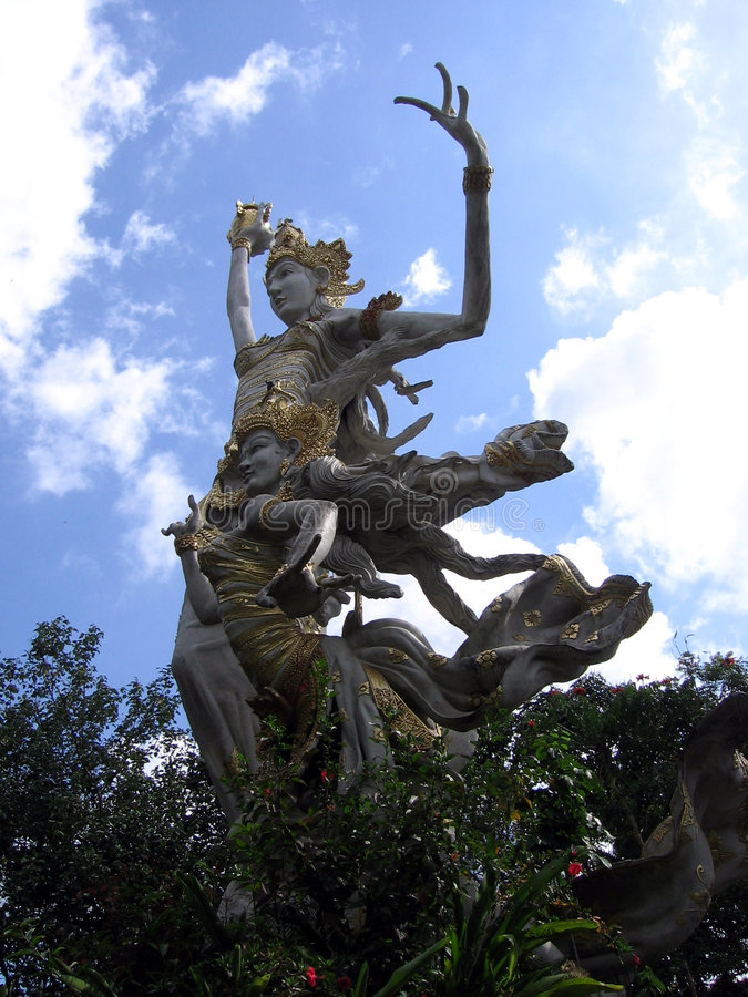 Download Bali. Goddess Against The Sky Stock Image - Image: 6750175