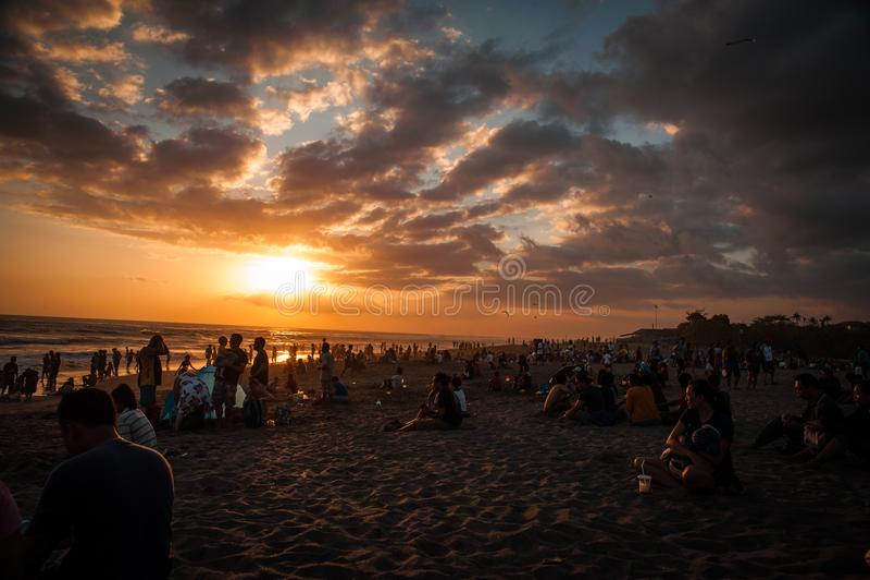 bali härlig indonesia solnedgång royaltyfria foton