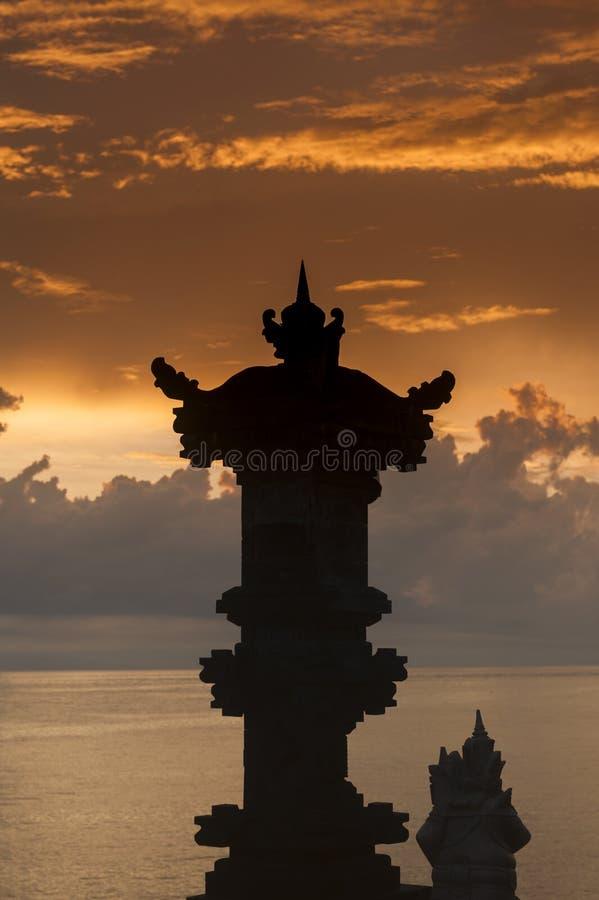 Bali Hindu Shrines During Sunrise stock photo