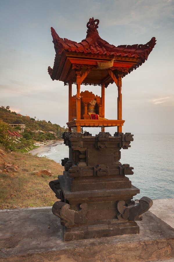 Bali Hindu Shrines During Sunrise stock photos