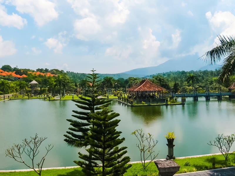 Bali, Indonésie - 15 avril 2012 : Palais Taman Ujung de l'eau photographie stock