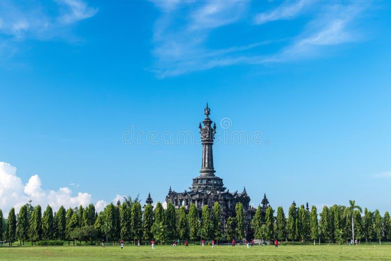 BALI, INDONESIË - APRIL 10, 2017: Het park van Puputanbadung, Bali stock foto's