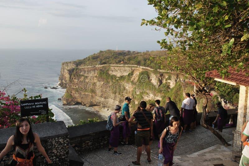 BALI, INDONESIË - 1 OKTOBER 2017: toerist fantastisch genieten van wedijvert royalty-vrije stock fotografie