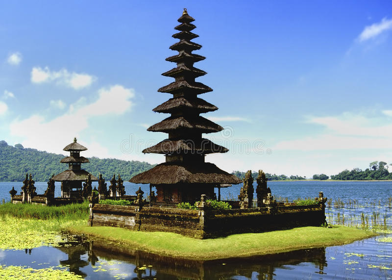 Bali - Indonesia. Pura Ulun Danu Temple on Danau Bratan Lake on the Indonesian island of Bali