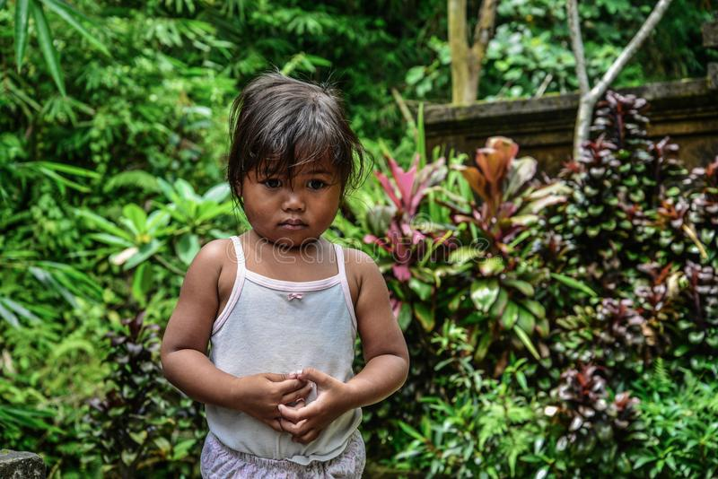 Cute little ethnic balinese kid royalty free stock photography