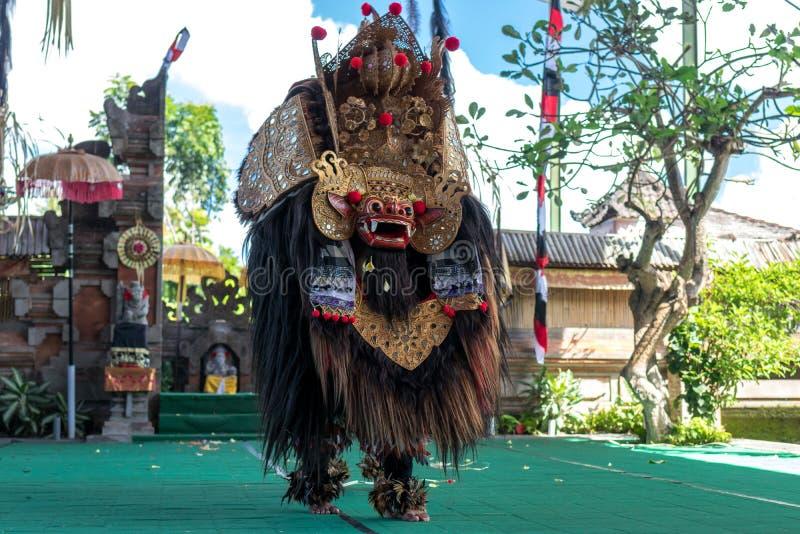 BALI, INDONESIA - MAY 5, 2017: Barong dance on Bali, Indonesia. Barong is a religious dance in Bali based on the great. BALI, INDONESIA - MAY 5, 2017 Barong stock image