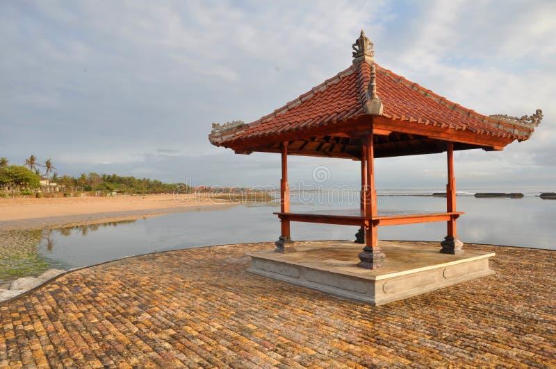 bali indonesia pagoda arkivbild