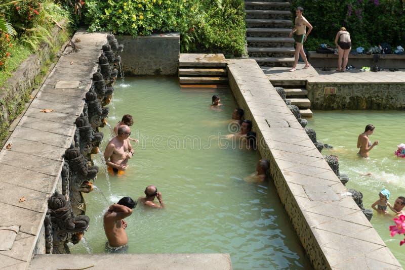 Termal Hot Springs su Bali fotografia stock libera da diritti