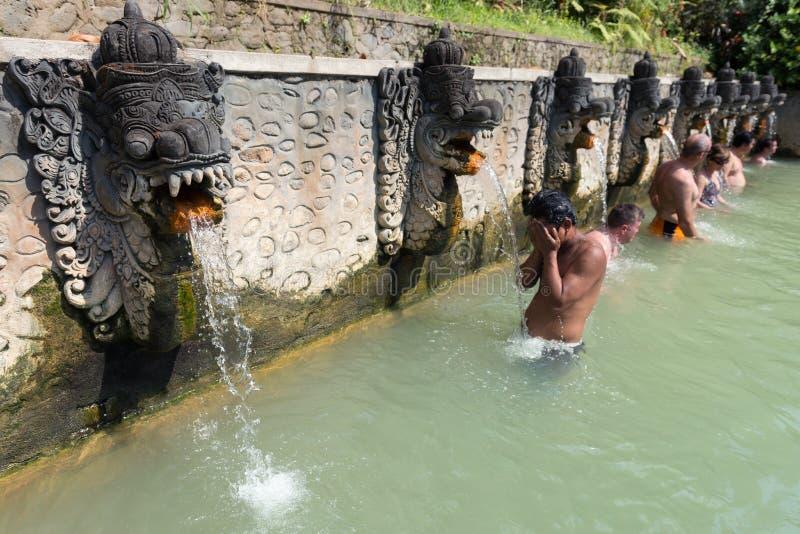 Termal Hot Springs su Bali immagine stock libera da diritti