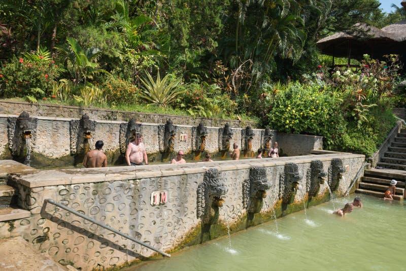 Termal Hot Springs su Bali immagine stock