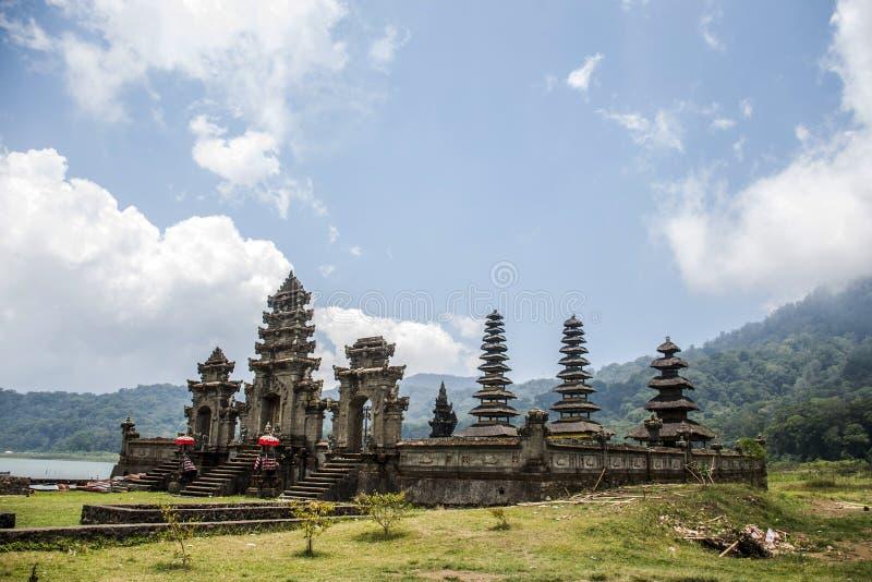 Bali Indonesia temple ulun pura lake Tamblingan royalty free stock photography