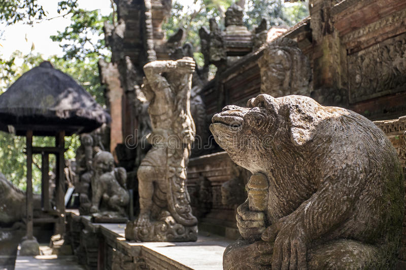 Bali Indonesia Ubud Monkey Forest Temple sculpture monkey genitals royalty free stock images