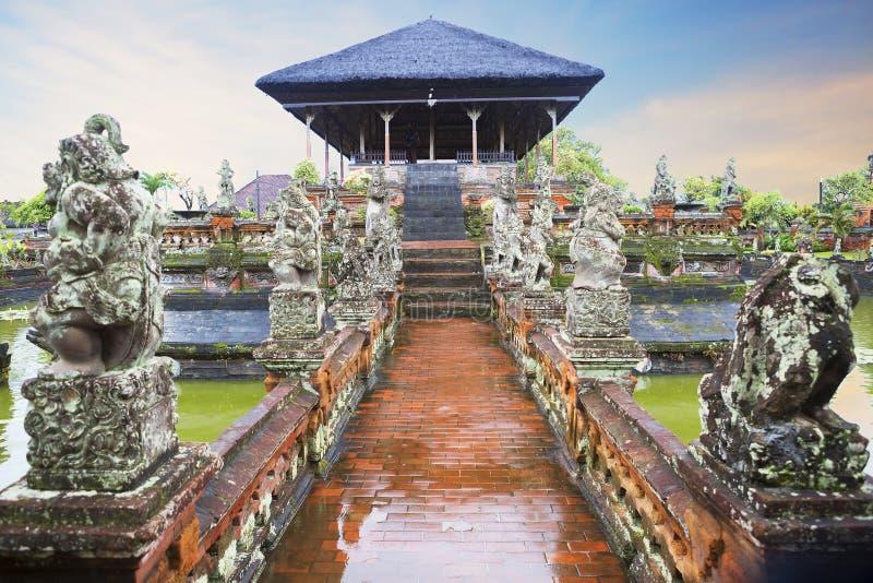 Bali Indonesien, Ubud Museumkomplex-Taman Kertha Gosa royaltyfri bild