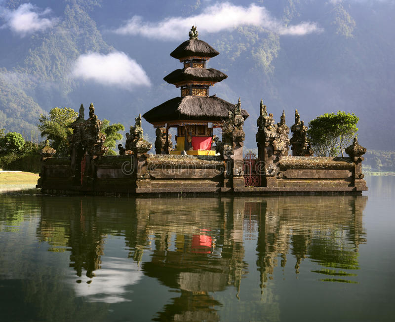 Bali island. The Bedugul lake in bali island - Indonesia stock images