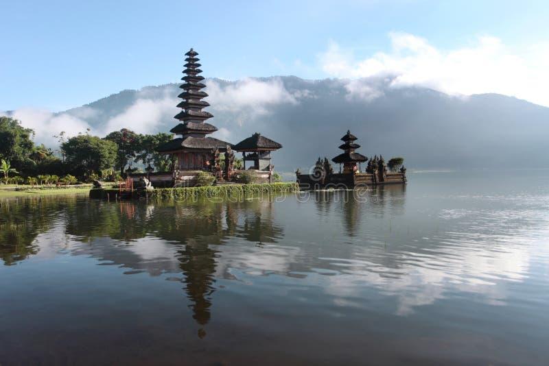 Bali island. The Bedugul lake in bali island - Indonesia