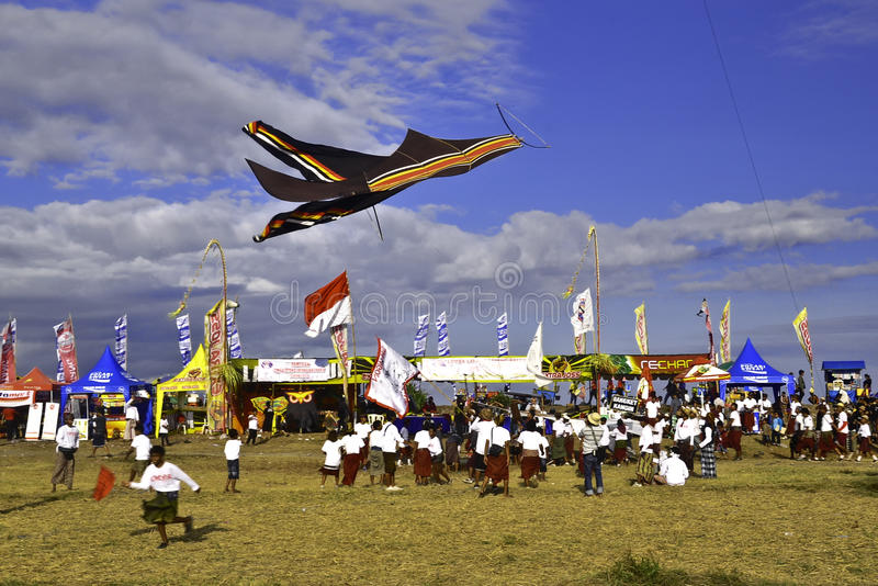Download Bali Kite Festival editorial photography. Image of blue - 26834622