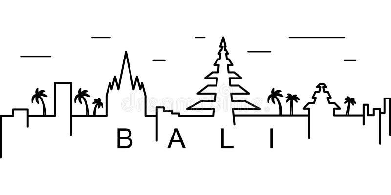 Bali konturu ikona Może używać dla sieci, logo, mobilny app, UI, UX ilustracja wektor