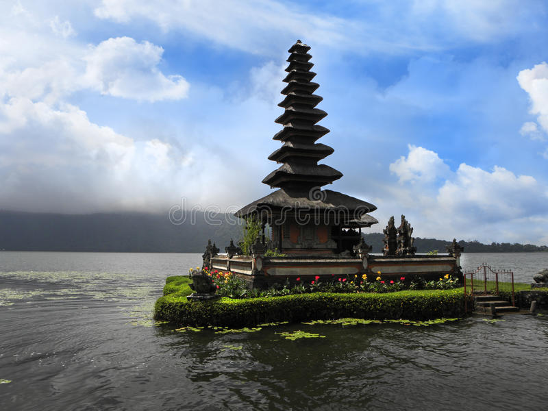 Download Bali lake temple stock image. Image of building, architecture - 19584457