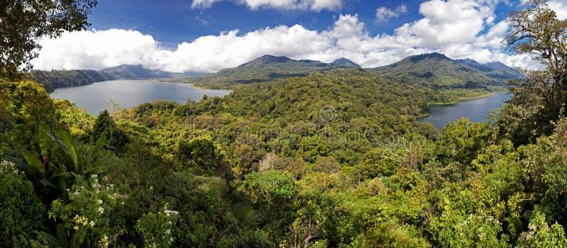 Bali lakes and mountains stock photo