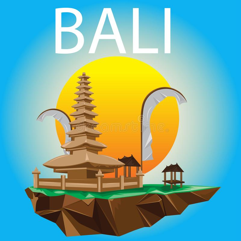 Bali Landmark Vector Design royalty free stock images