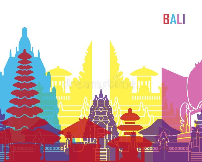 Bali linii horyzontu wystrzał ilustracja wektor
