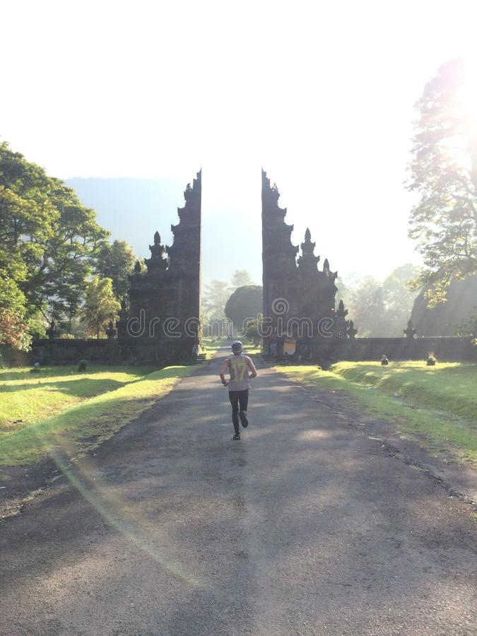 Bali mandara golf big gate stock photos