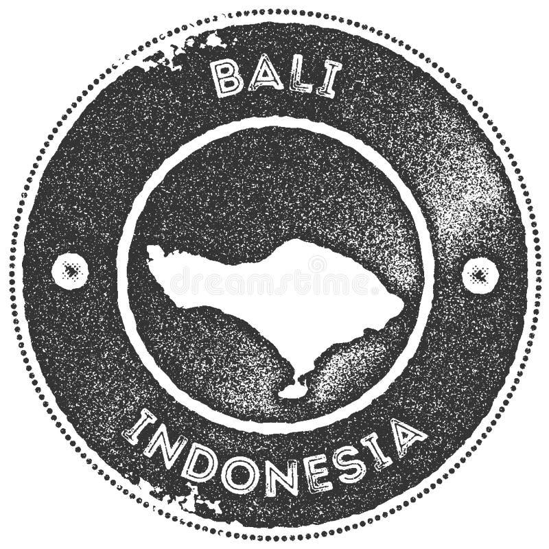 Bali mapy rocznika znaczek ilustracji