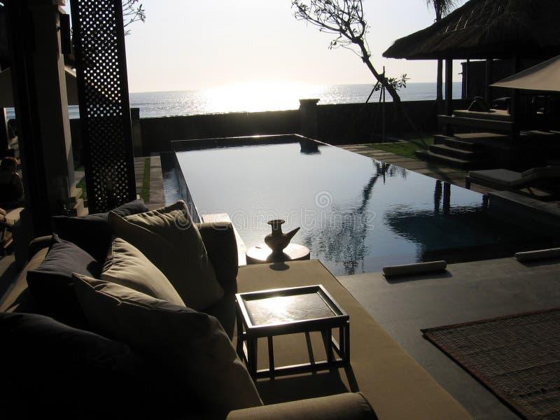 Bali. Océano de la relajación fotografía de archivo libre de regalías