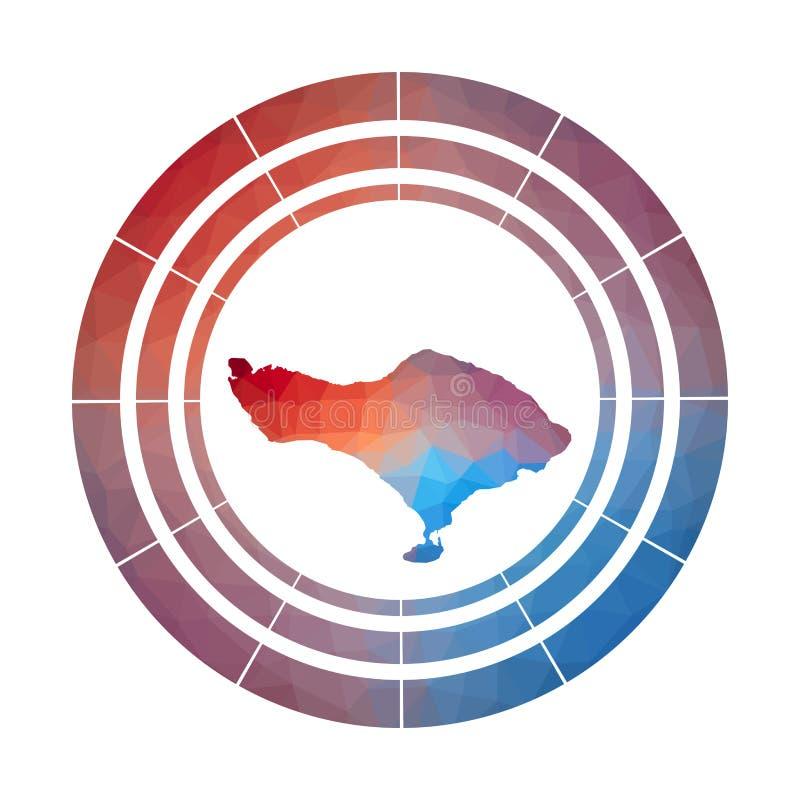 Bali odznaka ilustracja wektor