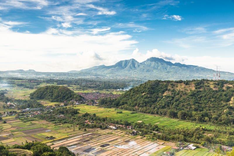 Bali oszałamiająco krajobraz obraz stock