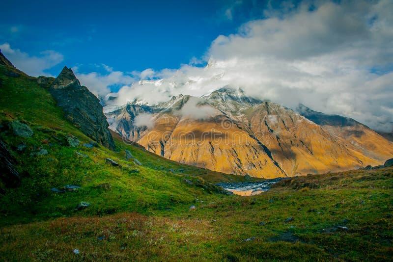 Bali Pass Base Camp, Upper Garhwal Himalaya royalty free stock photo