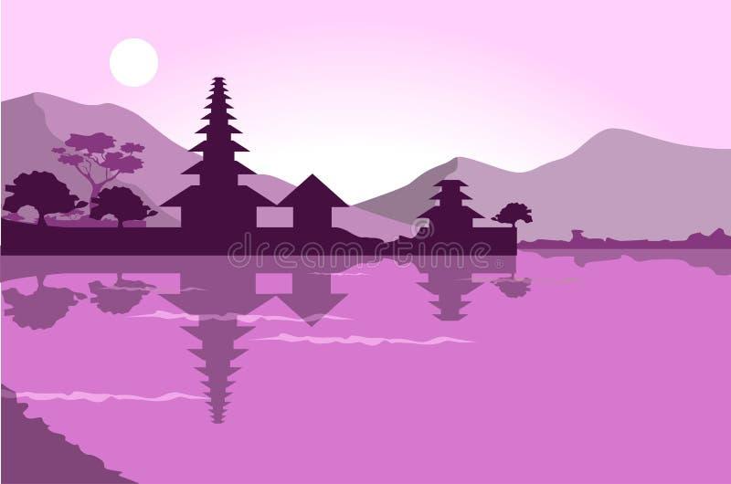 Bali projekta wektoru płaski illuatration ilustracji