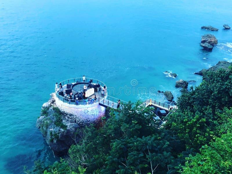Bali rock bar sea view royalty free stock photography