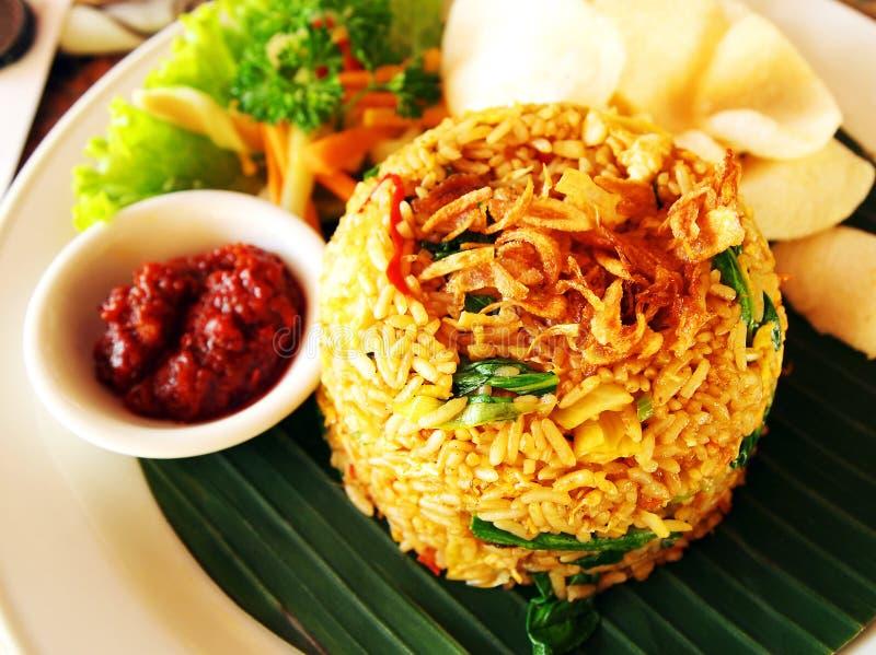 Bali stil stekte ris royaltyfri foto