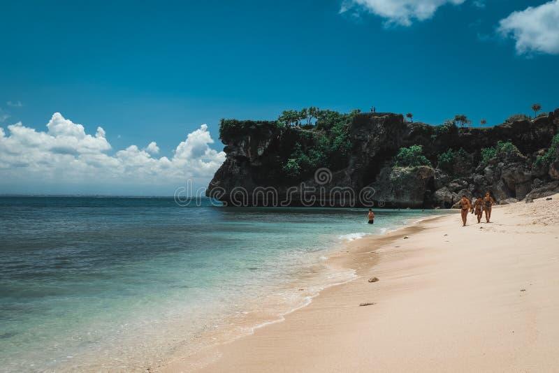 Bali strandlandskap arkivbild