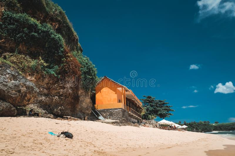 Bali strandlandskap royaltyfria foton