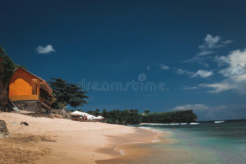Bali strandlandskap arkivfoton