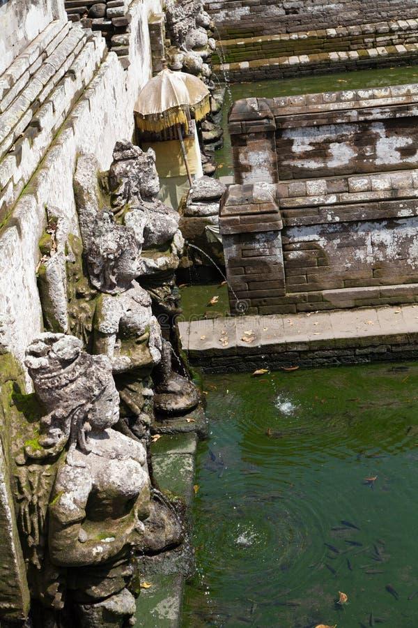 Bali tempel av Pura Tirta Empul arkivfoto