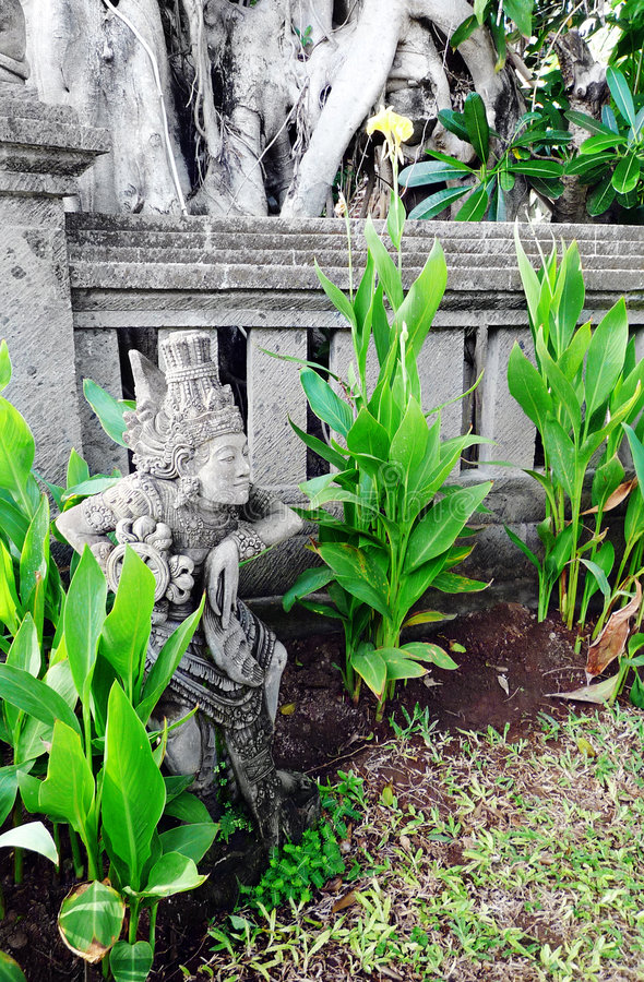 Bali-Tempelskulptur stockfotos