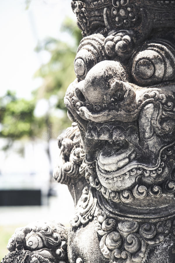 Bali temple art statue detail indonesia
