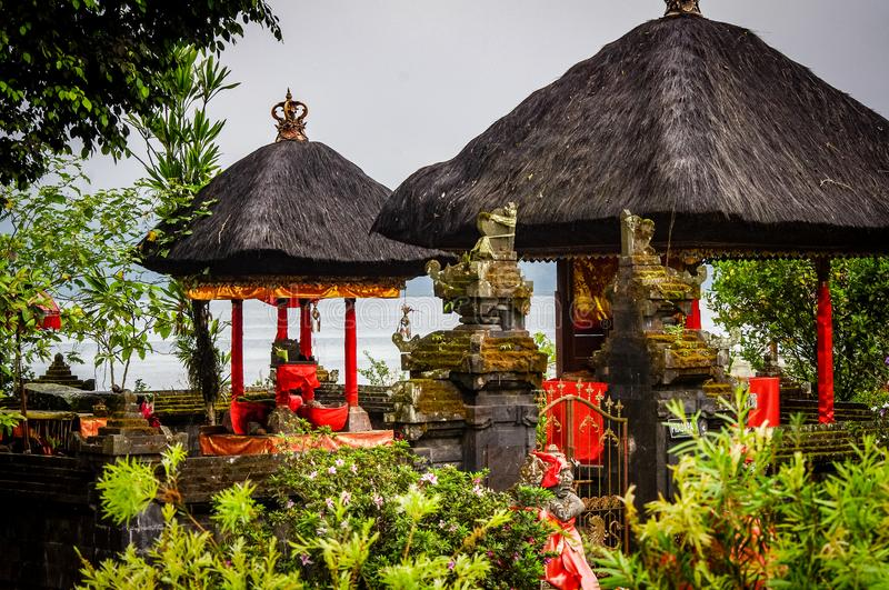 Bali Temple Gate Scene Indonesia. Very much one of the main tourist attractions and points of interest in the area royalty free stock photography