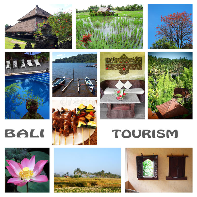 Download Bali tourism collage stock illustration. Illustration of greenery - 25709981