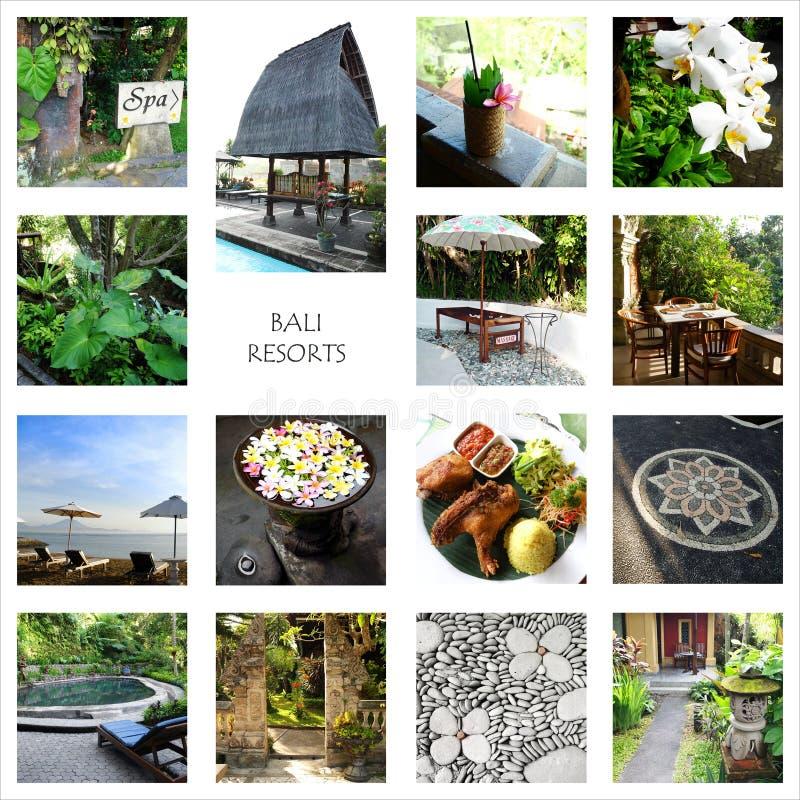 Bali tourism - resorts collage stock photo