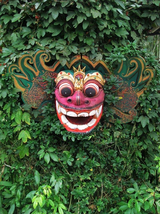 Bali: traditionelle Barong hölzerne Schablone lizenzfreies stockfoto
