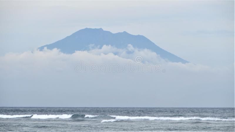 Bali Volcano, Indonesia stock photography