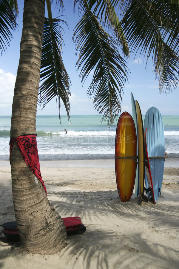 Bali-Vorstände stockfoto