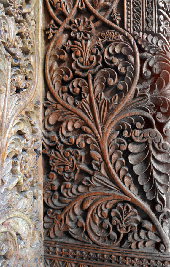 Bali wood carving art stock photo image of door heritage