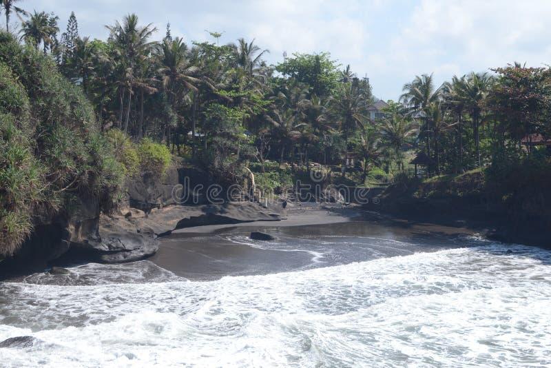 Balian海滩的看法在巴厘岛 图库摄影